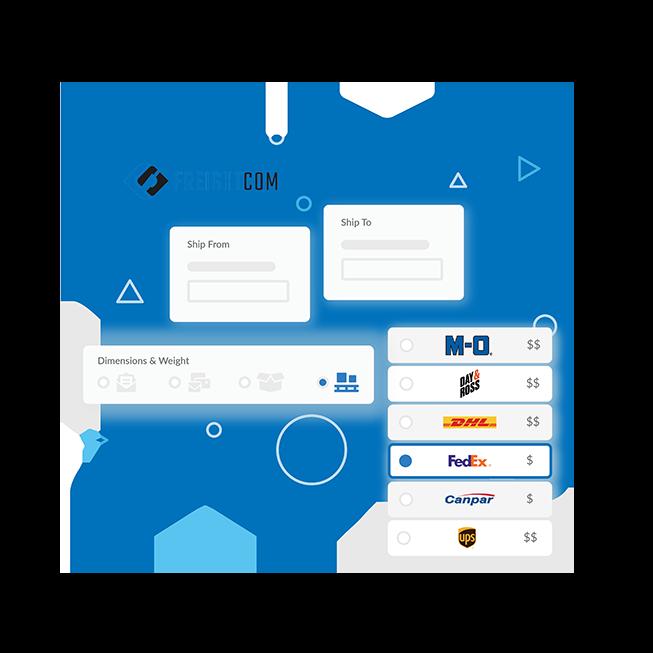 Freightcom's Interface