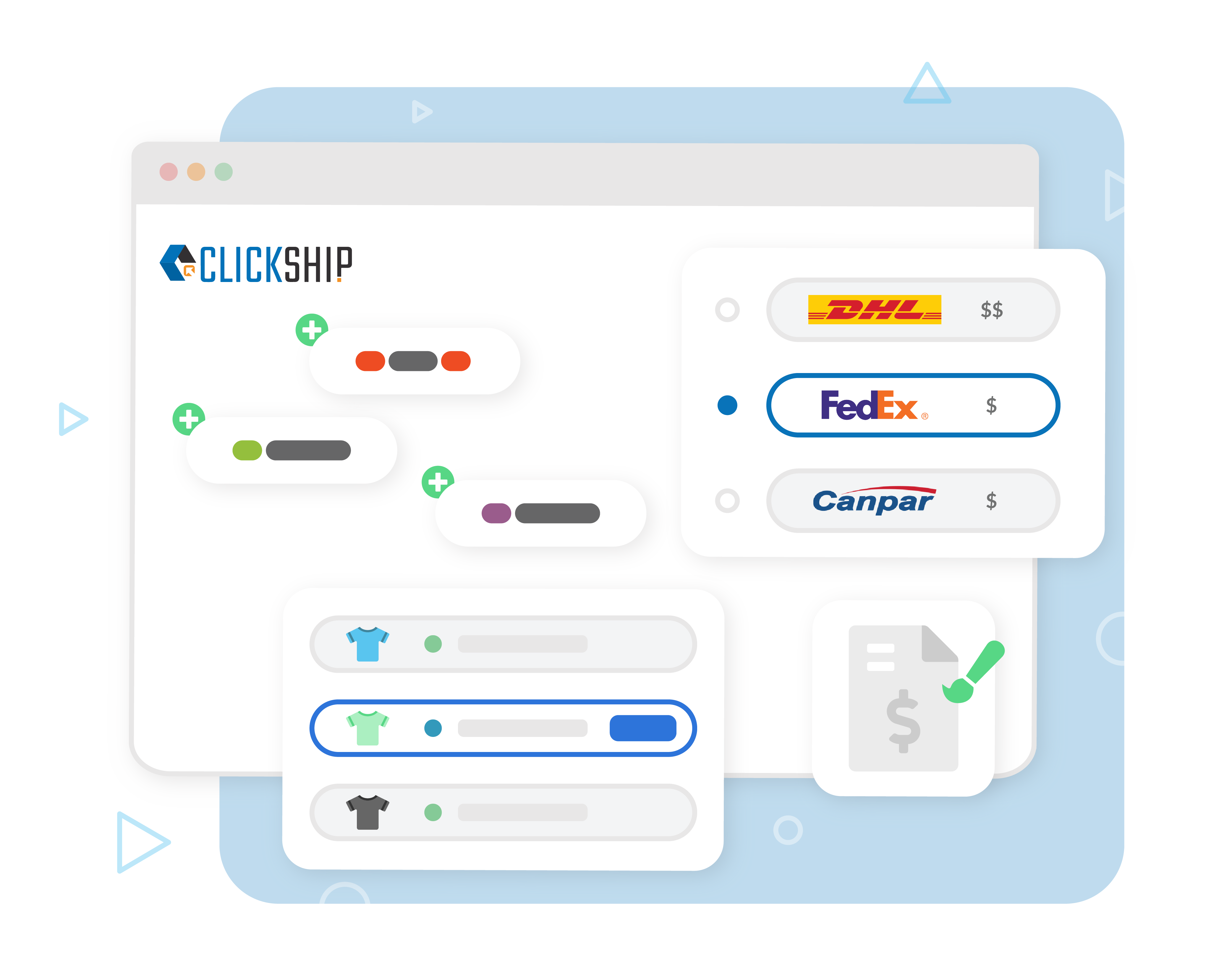 Images of Key Features for ClickShip